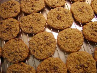 Havrekakor med chokladknappar - Oatmeal Chocolate Chip Cookies