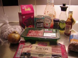 Dad's Beef 'n' Beans: ingredienser