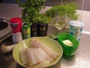 Fiskfilé à la Crême: ingredienser