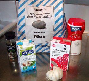 Fransk potatisgratäng: ingredienser
