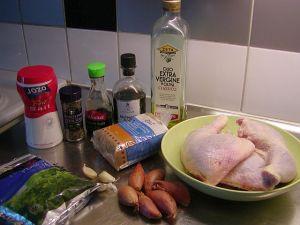 Ugnsstekta kycklingklubbor: ingredienser