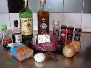 Whiskeymarinerad stek: ingredienser