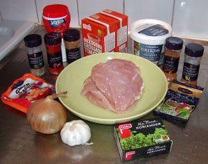 Kyckling Tikka Masala: ingredienser
