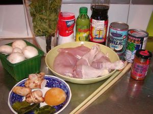 Tom Kha Gai: ingredienser