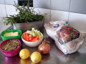 Helstekt kalkon: ingredienser