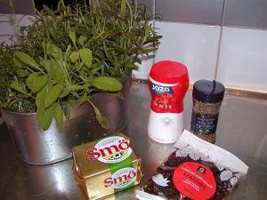 Kryddsmör till kalkon: ingredienser