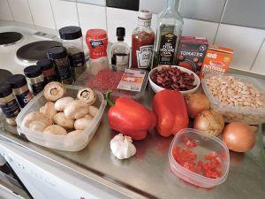 Chili con Carne: ingredienser