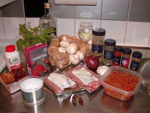Pastasås med salsiccia: ingredienser