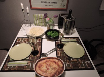 Fisk med champinjoncreme och caviar middag