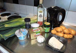 Potatis och purjolökssoppa med twist: ingredienser