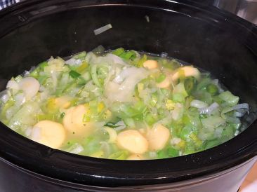Potatis och purjolökssoppa med twist 7