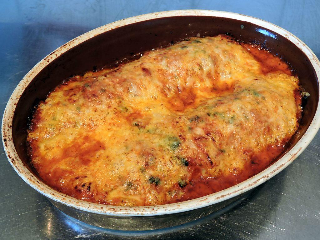 Enchiladas med köttfärs svamp och oliver