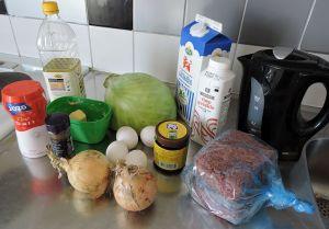 Kålpudding: ingredienser