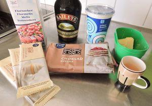 Ljus chokladtryffel med Baileys - ingredienser