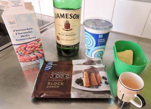 Mörk chokladtryffel med whiskey - ingredienser