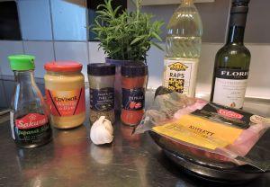 Marinerad fläskkotlett: ingredienser