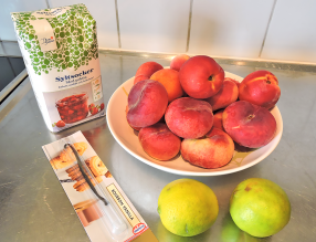 Persikomarmelad 1 - ingredienser