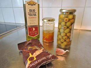 Tapenade verde med chili 1 - ingredienser