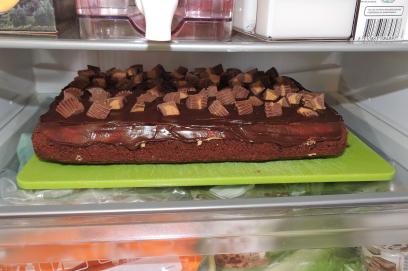 Chokladbrownies med jordnötssmör 36