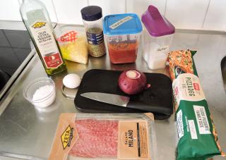 Pizzasnurror 1 - ingredienser