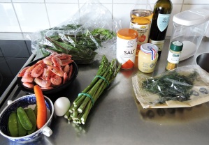 Räksallad med dillvinägrett 1 - ingredienser