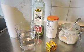 Focaccia 1 - ingredienser deg