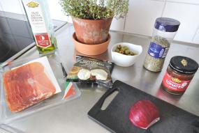 Focaccia 2 - ingredienser topping