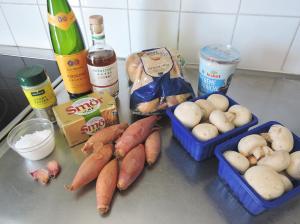 Poulet au Riesling - ingredienser